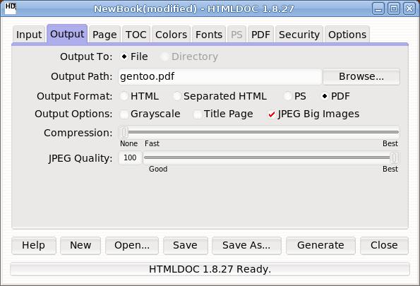htmldoc - convertir html a pdf output